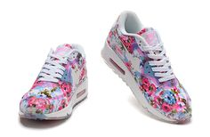 Nike Air Max 90 Floral Blue/ Wild rose via MFancy Boutique. Click on the image to see more!
