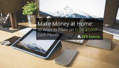 It's never been so easy to make money at home! Check out these tips and see which ones can help you bring in over $1,000 more each month for your family!