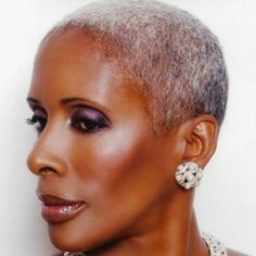 Shiny 58 Short Hairstyles for Black Women over 50 – New Natural Hairstyles Dyed Natural Hair, Natural Hair Care, Natural Hair Styles, Au Natural, New Natural Hairstyles, Black Women Hairstyles, Hairstyles Men, Short Grey Hair, Short Hair Styles