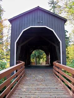 Pass Creek Covered Bridge | Oregon  ...  the majority of our covered bridges are only open to foot traffic these days in order to preserve them but they're still very cool.