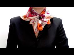 Square scarf tying tutorials  Cascade knot how-to