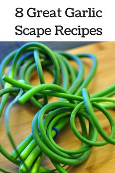 cook with garlic scapes Recipe For Garlic Scapes, Scape Recipe, Garlic Recipes, Avocado Recipes, Vegetable Recipes, Veggie Dishes, Side Dish Recipes, Gourmet Recipes, Beef Recipes