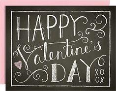 Chalkboard A2 Valentine Cards