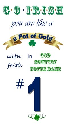 "God, Country and Notre Dame ~ Go Irish! Like the Irish?  Be sure to check out and ""LIKE"" my Facebook Page https://www.facebook.com/HereComestheIrish  Please be sure to upload and share any personal pictures of your Notre Dame experience with your fellow Irish fans!"