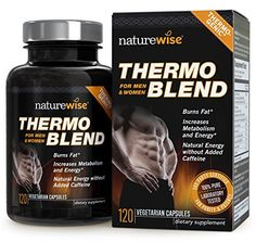 NatureWise Thermo Blend Advanced Thermogenic Fat Burner for Weight Loss and Natural Energy, 1300 mg, Supply, 120 count: Health & Personal Care Fat Burner Supplements, Weight Loss Supplements, Natural Supplements, Best Fat Burner, Natural Energy, Good Fats, Diet Pills, Count, Fat Burning