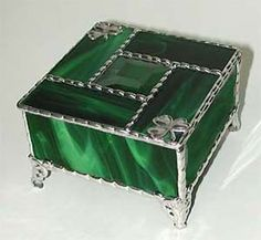 Stained Glass Box Designs Custom Made Stained Glass Jewelry Boxes