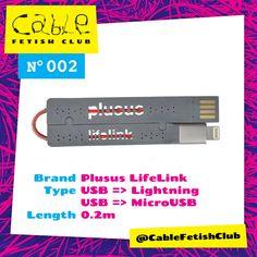 Cable 002 : PlusUs LifeLink   Lightning or MicroUSB   0.2m    #thin #lifesaver #minimal Buy => tinyurl.com/cablefetish002
