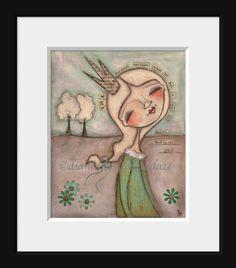Print of my Original Folk Art Inspirational Painting  by DUDADAZE