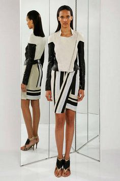 Donna Karan White Top and Black Skirt - Best Resort 2013 Fashion Looks - Harper's BAZAAR