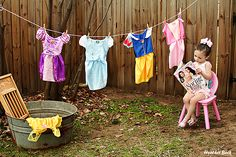 We had a princess wash day photo shoot today. :)