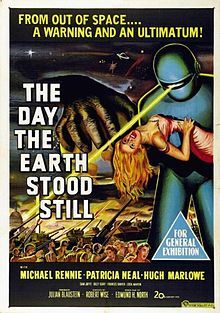 THE DAY THE EARTH STOOD STILL  (Patricia Neal and Michael Rennie, 1951). An interstellar traveler arrives in Washington, D. C. with a dire warning for Earth.