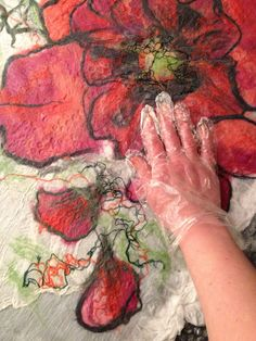 www.nadinsmo.com -painting with wool  Handmade wool felted clothes dress,100% handmade from pure super thin English merino wool and different silk by Nadin Smo design . Unique,modern and creative design .