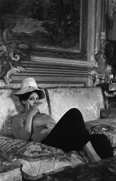 Previously unpublished. Sophia Loren in her Italian villa, 1964.