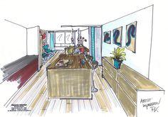 Een oud pand in Schiedam omgetoverd in een heel origineel maar lastig in te delen appartement! Vanaf de keuken kijk je op de eethoek met een extra zitje. Om de eethoek en de keuken te scheiden kunnen de stoffen panelen worden dicht geschoven.  Ook ideeën nodig, wij denken graag met u mee!