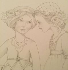 """From Mary's FB page: """"A little sketch just for fun!""""  copyright Mary Engelbreit Enterprises, Inc."""