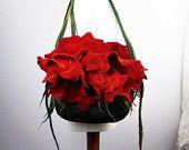 Felted Bag Flower Purse Nunofelt Bag Art Handbag Art ♡ by filcant Felt Clutch, Felt Purse, Unique Handbags, Unique Purses, Flower Bag, Art Bag, Purple Bags, Nuno Felting, Beautiful Bags