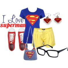 """""""I love Superman"""" by kestrelicious on Polyvore"""