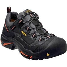 The Braddock Low Steel Toe Work Shoe, Part of KEEN Utility& American Built collection, boasts a protective steel-toe and signature comfort technologies. Feel secure with the non-slip, non-marking outsole. Mens Work Shoes, Steel Toe Work Shoes, Black Shoes, Men's Shoes, Steel Dc, Shoe Sites, Mens Fashion Shoes, Boots Online, Shoes Outlet