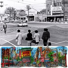 #TBT #Toronto Chinatown 1968 - intersection of Spadina Avenue and Dundas Street West. Courtesy City of Toronto Archives. Photo: Eric Trussler.