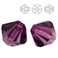 5328 Bicone 6mm Amethyst 10 pieces  Dimensions: 6,0mm Colour: Amethyst 1 package = 10 pieces
