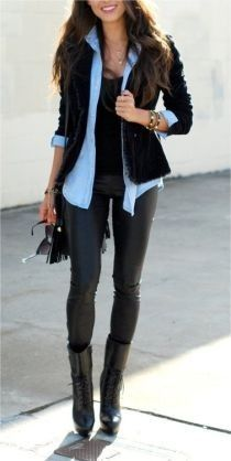 knit sweaters and leather leggings! get it at www.shoppublik.com by P... | Keep.com