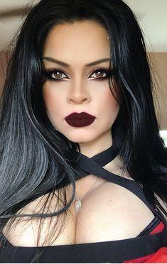 #gothic #eyes #hair #lips #makeup Gothic, Lips, Makeup, Hair, Make Up, Goth, Beauty Makeup, Bronzer Makeup, Strengthen Hair