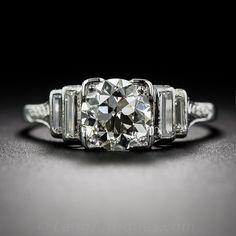 1.17 Carat Diamond Art Deco Engagement Ring - 10-1-7144 - Lang Antiques
