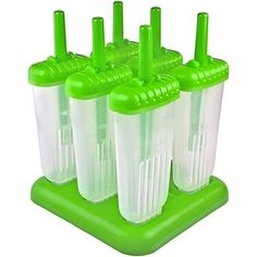 Ice Cream Molds Lolly Popsicle Set of six Healthy Homemade BPA Free Green New #IceCreamMolds