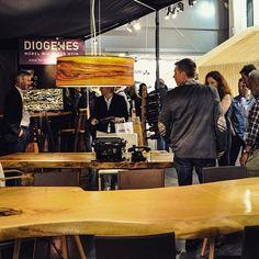 Stammdesign at the trade Fair in Bozen, Italy. Italy Table, Trade Fair, Dining Table, Woodworking, Instagram, Carpenter, Wine, Dinner Table, Carpentry