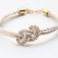 Bridesmaid gift - Small White silk Knot Bracelet - 24k gold plated... perfect.