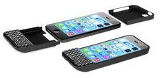 아이폰 5S 케이스로 블랙베리 쿼티키보드 사용하는 타이포키보드(TypoKeyboard)
