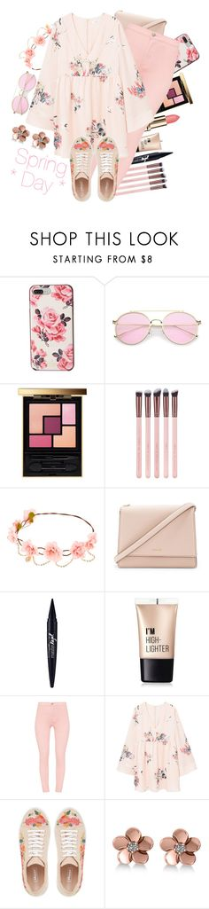 """""""* SPRING DAY *"""" by tialua ❤ liked on Polyvore featuring Kate Spade, Yves Saint Laurent, Luxie, Maybelline, Charlotte Russe, MANGO and Allurez"""
