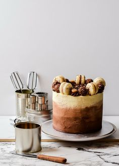 Triple chocolate ombre coffee cake. #ombre #cakes #wedding #desserts
