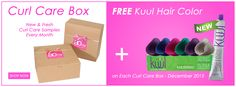 One free KUUL Hair Color with subscription Curl Care Box December 2015 http://www.aonebeauty.com/box-subscription/?sort=newest ‪#‎freegift‬ ‪#‎new‬ ‪#‎haircolor‬ ‪#‎boxsubscription‬ ‪#‎curlcare‬