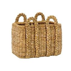 Large Rectangular Rush Basket One of our most popular and our favorites! We use these phenomenal heavy duty baskets for storing blankets, shoes, toys or anything you can think of! The solid rattan frames make our baskets as durable as they are beautiful.