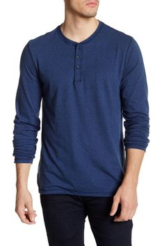 Image of Public Opinion Long Sleeve Henley