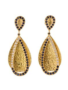 Madhuri Parson 1.20ctw Sapphire and Diamond Earrings