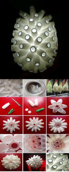 DIY Yogurt Bottle Lampshade