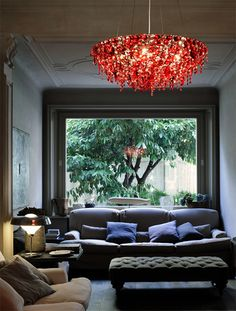 Red Crystal Chandelier by Lolli Memmoli  http://www.electricmaninc.com/