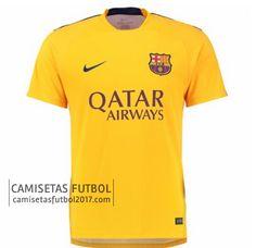 Camiseta Pre Match amarillo Barcelona 2015 2016 | camisetas de futbol baratas
