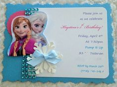 Hey, I found this really awesome Etsy listing at https://www.etsy.com/listing/182056888/handmade-frozen-invitations-with
