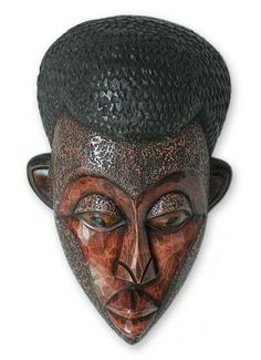 African wood mask - You Are Loved | NOVICA