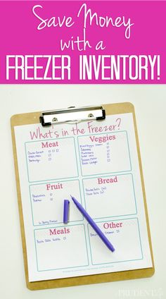 Make meal planning easier and save money by keeping an inventory of your freezer. This free printable will help!