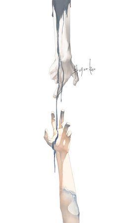 art by Re゜ Anime Hand, 5 Anime, Yuumei Art, Arte Sketchbook, Poses References, Hand Art, Art And Illustration, Art Inspo, Amazing Art