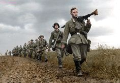Germans soldiers during the Battle of France, 1940. Credit to World War Colorization
