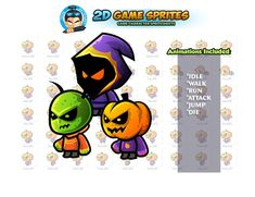 Monster Enemies Game Sprites by DionArtworks on 2d Character Animation, Shooting Games, Cute Monsters, Game Assets, Sprites, Enemies, Character Illustration, Disney Characters, Fictional Characters