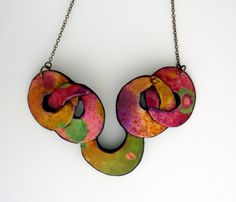 Polymer clay necklace van AnarinaAnar op Etsy