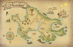 ****THIS LISTING IS A DIGITAL FILE // 2 PDF FILES INCLUDED***** This whimsical Neverland Map will add a touch of nostalgia and magic to any room! Download and print this PDF file at either 11x17 or 16x20 (frame-ready sizes). You can have them printed on a canvas online, or take them into your local print shop (like the UPS store) and have them printed on card stock or on roller paper.