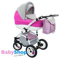 Kinderwagen Evado 3in1: Babywanne, Buggy, Autositz - rosa + Muster  http://www.babyshop.expert/Kinderwagen-Evado-3in1-Babywanne-Buggy-Autositz_19  #babyshopexpert #kombikinderwagen #kinderwagen