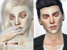 ... PS Diamond Skins by Pralinesims at TSR image 1250 Sims 4 Updates ...
